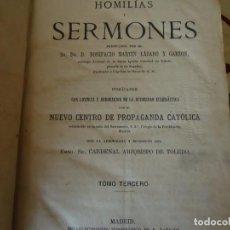Libros antiguos: HOMILIAS Y SERMONES. Lote 213446732