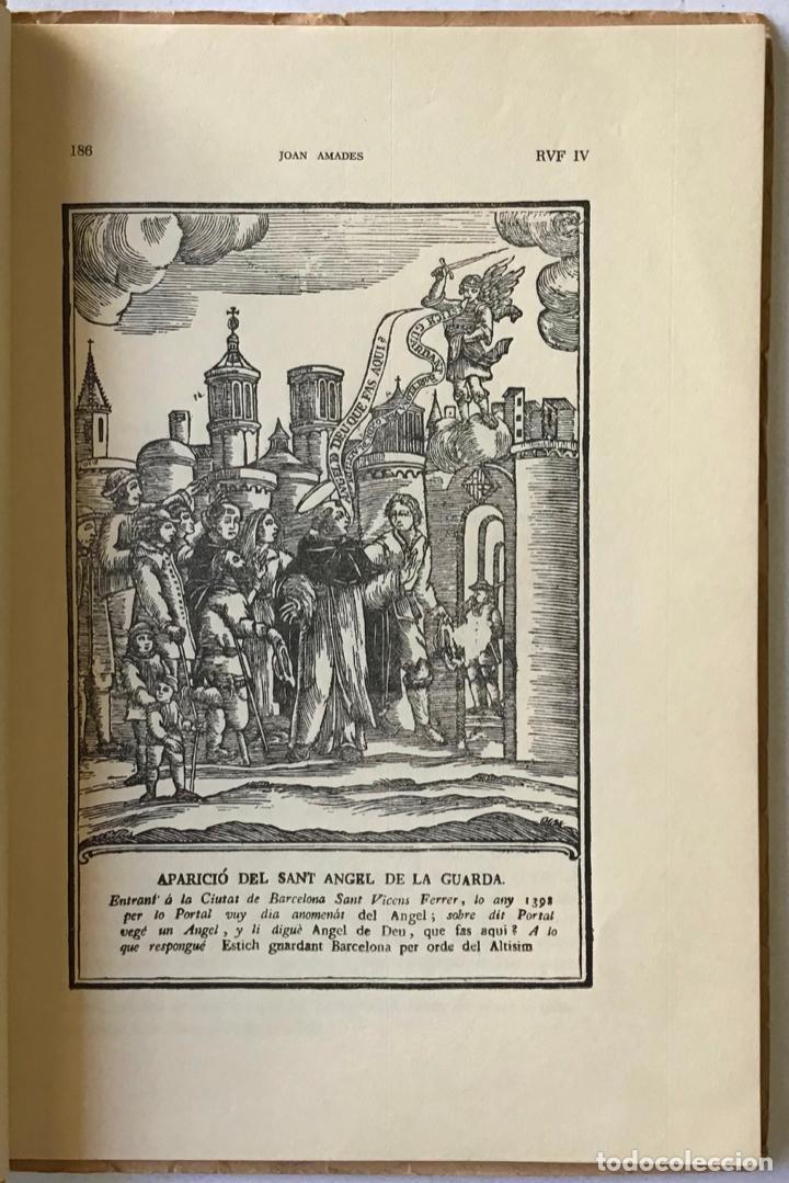 Libros antiguos: LLEGENDARI CATALÀ DE SANT VICENÇ FERRER. - AMADES, Joan. - Foto 3 - 123156444