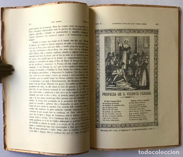 Libros antiguos: LLEGENDARI CATALÀ DE SANT VICENÇ FERRER. - AMADES, Joan. - Foto 4 - 123156444