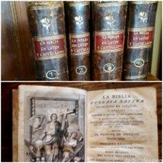 Libros antiguos: NUEVO TESTAMENTO BIBLIA VULGATA LATINA TRADUCCIÓN Y NOTAS DE PHELIPE SCIO 1797 IMPRENTA BENITO CANO. Lote 214434971