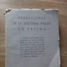 Libros antiguos: LAS APARICIONES DE LA SANTÍSIMA VIRGEN EN FÁTIMA / CASTRO DEL RÍO , PADRE JOSÉ DE. Lote 217207750