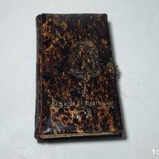 Libros antiguos: ANTIGUO MISAL HORAS PIADOSAS RECUERDO DE MONSERRAT, SIGLO XIX, EN PASTA TIPO CAREY, MED. 813,5 CM.. Lote 217930731