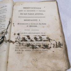Libros antiguos: MEDITACIONES SAN PABLO APÓSTOL. Lote 218190291