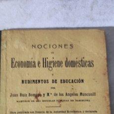 Libros antiguos: ECONOMÍA E HIGIENE DOMÉSTICA. Lote 218937670