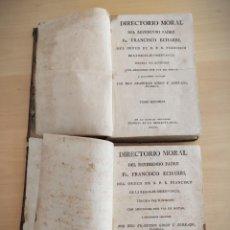 Libros antiguos: 1799 - DIRECTORIO MORAL FRANCISCO ECHARRI - TOMO PRIMERO Y SEGUNDO - MADRID. Lote 218941813