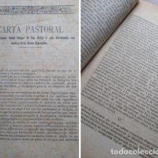 Libros antiguos: CARTA PASTORAL OBISPO DE TUY EN CUARESMA. Lote 220070876