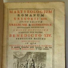 Libros antiguos: MARTYROLOGIUM ROMANUM GREGORII XIII. JUSSU EDITUM. URBANI VIII. & CLEMENTIS X. AUCTORITATE RECOGNITU. Lote 123147556