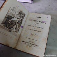 Libri antichi: PRPM 84 OBRAS SANTA TERESA DE JESÚS. TOMO V. LIBRERÍA RELIGIOSA 1852. Lote 221397227