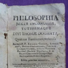 Libros antiguos: PHILOSOPHIA, TOMUS SECUNDUS ~1736 ~ ANTONIO GAUDIN - TYPIS DOMENICI LOVIFA, VENETIIS - PJRB. Lote 221743857