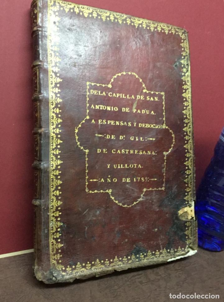 Libros antiguos: Antiguo libro de la capilla de San Antonio de Padua 1785 - Foto 6 - 222055750
