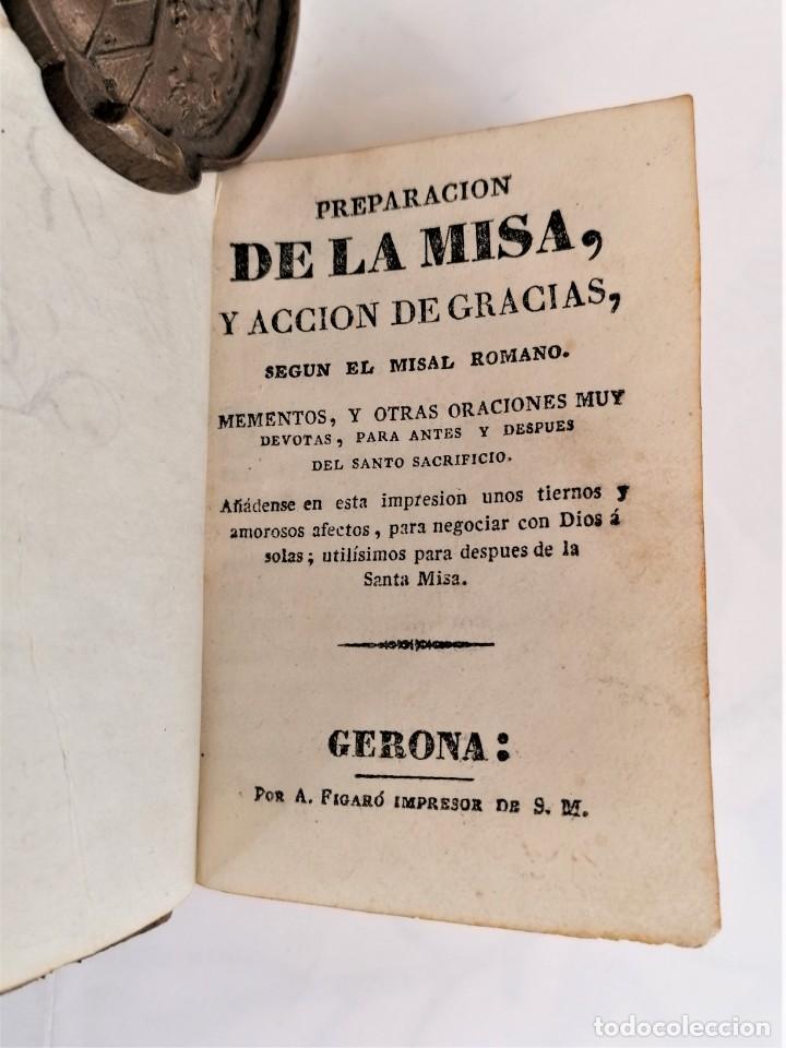 Libros antiguos: ANTIGUO LIBRO, SIGLO XVIII,PREPARACION PARA LA MISA,MISA DE DIFUNTOS Y OTROS,EN CATALAN Y CASTELLANO - Foto 4 - 222199906