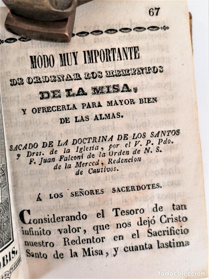 Libros antiguos: ANTIGUO LIBRO, SIGLO XVIII,PREPARACION PARA LA MISA,MISA DE DIFUNTOS Y OTROS,EN CATALAN Y CASTELLANO - Foto 5 - 222199906