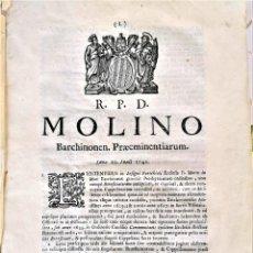 Libros antiguos: BASILICA SANTA MARIA DEL MAR,DOCUMENTOS SIGLOXVIII,1748 JUICIOS Y ACTOS,CATALUNYA,SANTA INQUISICION?. Lote 222220141