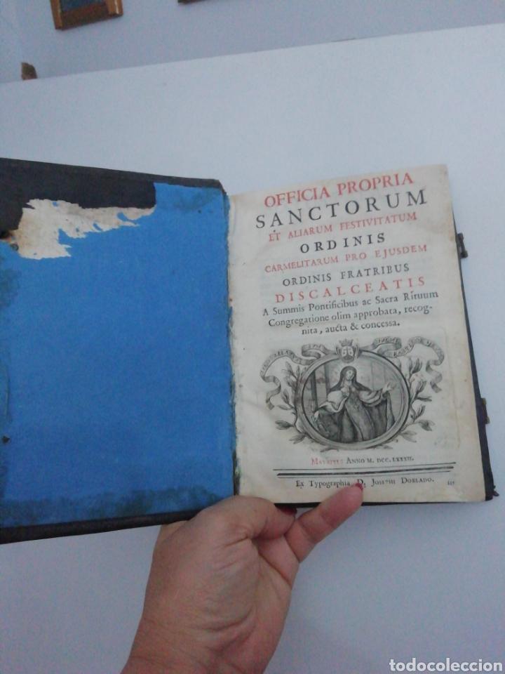Libros antiguos: Officia Propria Santorum Et Aliarum Festvitatum Carmelitarum Pro Ejusdem Ordinis Fratibus 1782 - Foto 4 - 222627952
