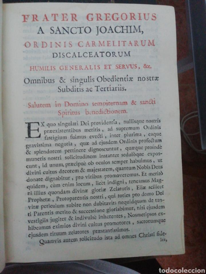 Libros antiguos: Officia Propria Santorum Et Aliarum Festvitatum Carmelitarum Pro Ejusdem Ordinis Fratibus 1782 - Foto 7 - 222627952
