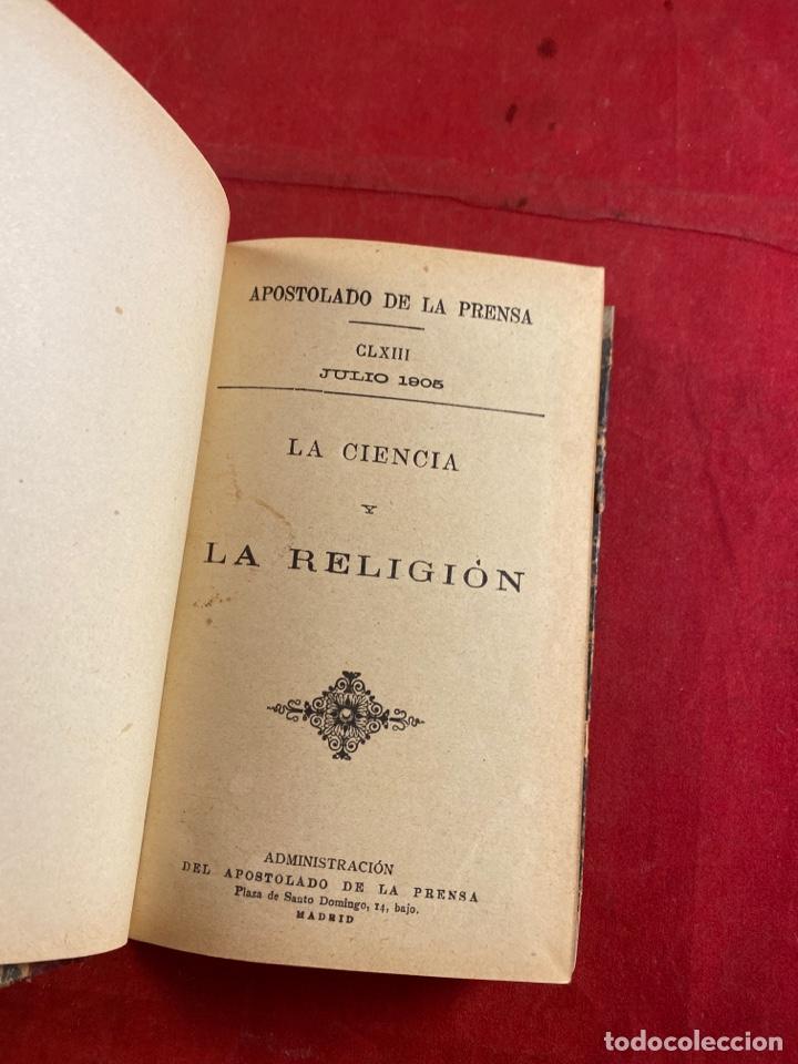 LA CIENCIA Y LA RELIGIÓN (Libros Antiguos, Raros y Curiosos - Religión)
