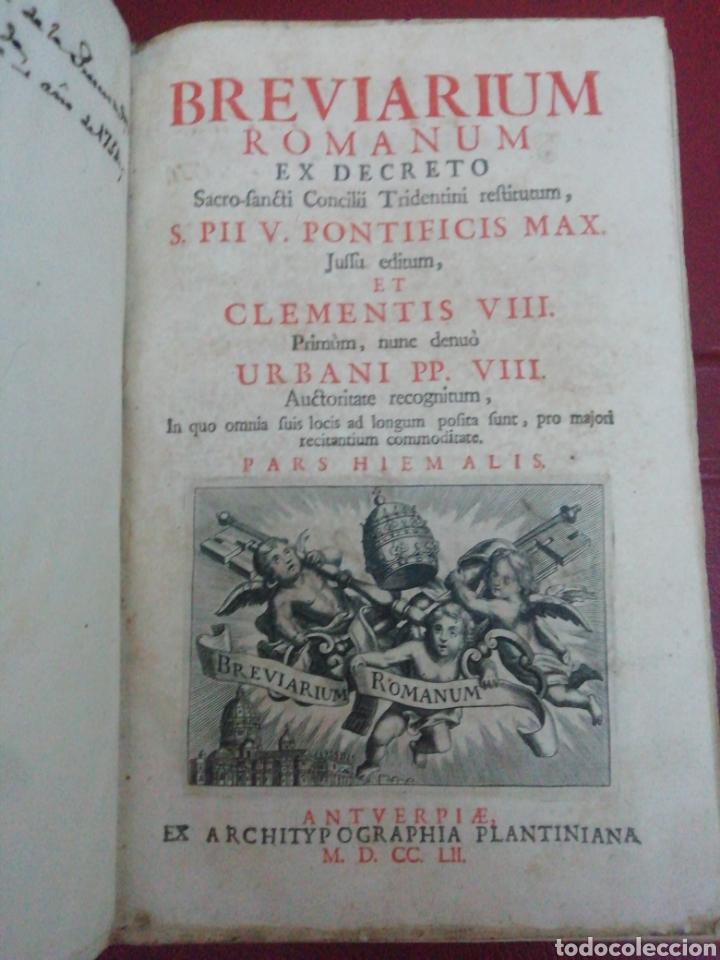Libros antiguos: Brevarium Romanum Exdecreto Sacro Facti Concilii Tridentini Reftirur Pars Hiemalis 1752 - Foto 5 - 222632675