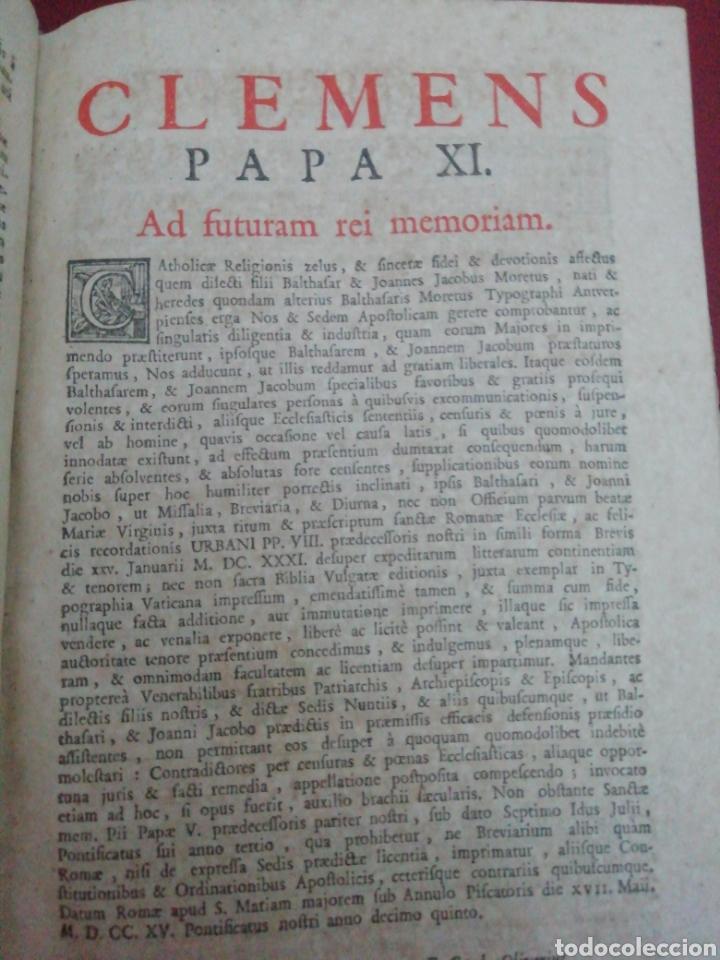 Libros antiguos: Brevarium Romanum Exdecreto Sacro Facti Concilii Tridentini Reftirur Pars Hiemalis 1752 - Foto 7 - 222632675