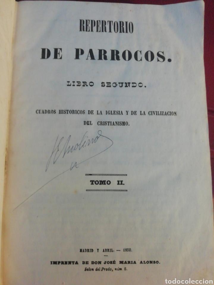 REPERTORIO DE PÁRROCOS - TOMO II , AÑO 1850 (Libros Antiguos, Raros y Curiosos - Religión)