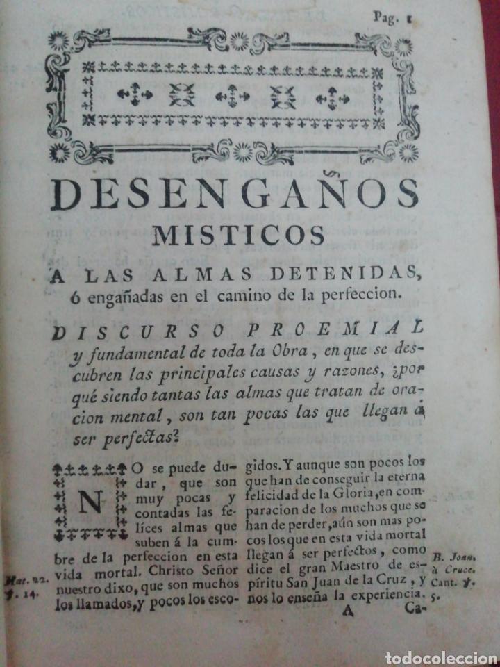 Libros antiguos: Desengaños Místicos a las almas detenidas, o engañadas en el camino de la perfección. . Arbiol, Juan - Foto 6 - 222638036