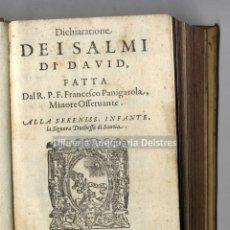 Libros antiguos: [SEGUNDA EDICIÓN. 1588] PANIGAROLA, FRANCESCO. DICHIARATIONE DI SALMI DI DAVID. Lote 222874003