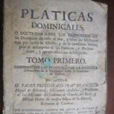 Libri antichi: RESERVADPLATICAS DOMINICALES-DOCTRINAS SOBRE LOS EVANGELIOS FRANCISCO MIGUEL ECHEVERZ 1769 PAMPLONA. Lote 223042067