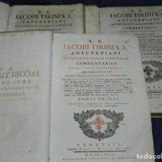 Libros antiguos: (MF) R. P. JACOBI TIRINI S.J. ANTUERPIANI IN UNIVERSAM SACRAM SCRIPTURAM - COMMENTARIUS. Lote 223583471