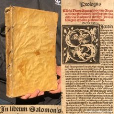 Libros antiguos: AÑO 1505 - INCUNABLE - GOTICO - PERGAMINO - FOLIO - COMENTARIOS A LA BIBLIA - CANTAR DE LOS CANTARES. Lote 224017945