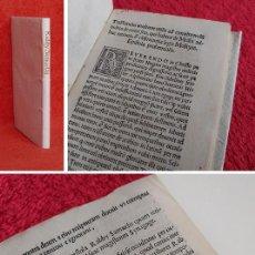 Libros antiguos: AÑO 1514 - POST INCUNABLE - RABINO SAMUEL EL FASSI (SIGLO XI D.C) - LOS ERRORES DE LOS JUDIOS. Lote 224121412