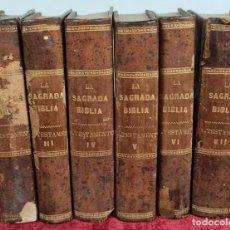 Libros antiguos: LA SAGRADA BIBLIA. ANTIGUO TESTAMENTO. FELIPE SCIO. EDIT. PONS. 1853. 6 VOL.. Lote 224457452