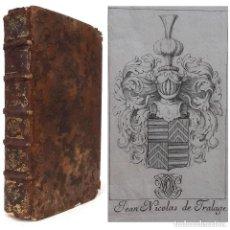 Libros antiguos: 1686 IMPORTANTE PROCEDENCIA HISTÓRICA. LIBRO DEL SIGLO XVII, EXLIBRIS HERÁLDICO, REVOLUCIÓN FRANCESA. Lote 224668761