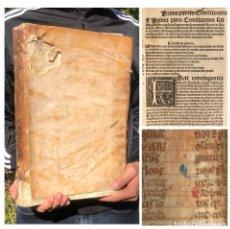 Libros antiguos: 1537 - GÓTICO POST-INCUNABLE CON FRAGMENTOS DE MANUSCRITO MEDIEVAL EN PERGAMINO - DERECHO -. Lote 223998067