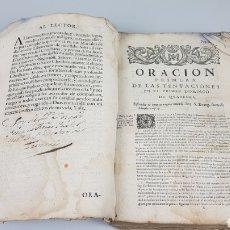 Libros antiguos: ORACIONES VARIAS, CONSAGRADAS A MARÍA SEÑORA NUESTRA, MADRE DE DIOS... CARLOS II 1691. SIGLO XVII. Lote 225033511