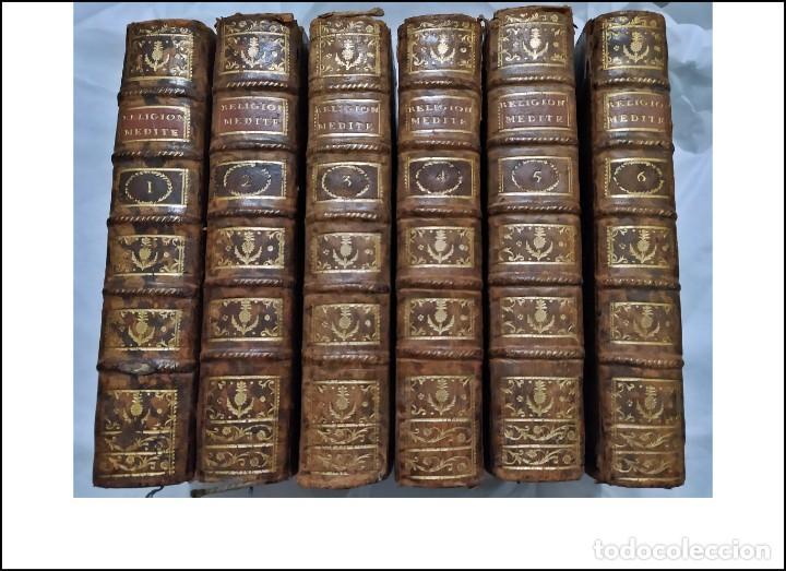 AÑO 1784: LA RELIGIÓN CRISTIANA. 6 ELEGANTES TOMOS DEL SIGLO XVIII. (Libros Antiguos, Raros y Curiosos - Religión)