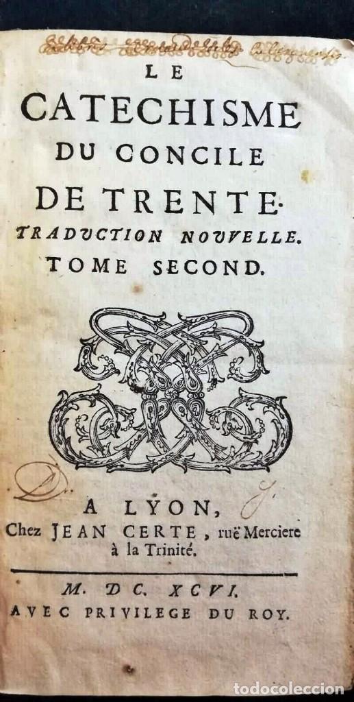 Libros antiguos: AÑO 1696: EL CATECISMO DEL CONCILIO DE TRENTO. 2 TOMOS DEL SIGLO XVII. - Foto 7 - 225591520
