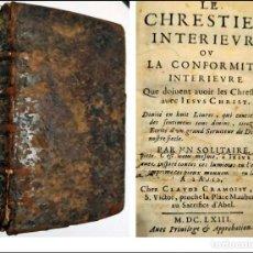 Livres anciens: AÑO 1663: EL CRISTIANO INTERIOR. LIBRO DEL SIGLO XVII DE 357 AÑOS DE ANTIGÜEDAD.. Lote 226003690