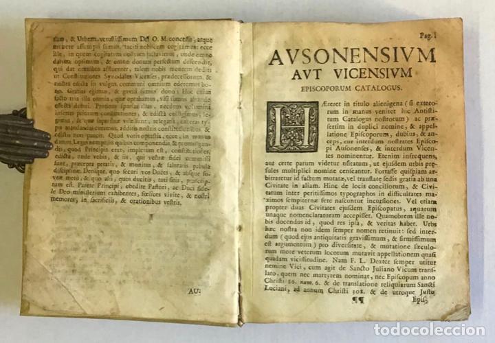 Libros antiguos: CONSTITUTIONES SYNODALES DIOEC. VICEN. IN UNUM COLLECTAE RENOVATAE & AUCTAE. - MUÑOZ, Emmanuele A. - Foto 4 - 226253215