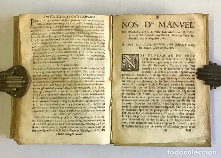 Libros antiguos: CONSTITUTIONES SYNODALES DIOEC. VICEN. IN UNUM COLLECTAE RENOVATAE & AUCTAE. - MUÑOZ, Emmanuele A. - Foto 9 - 226253215