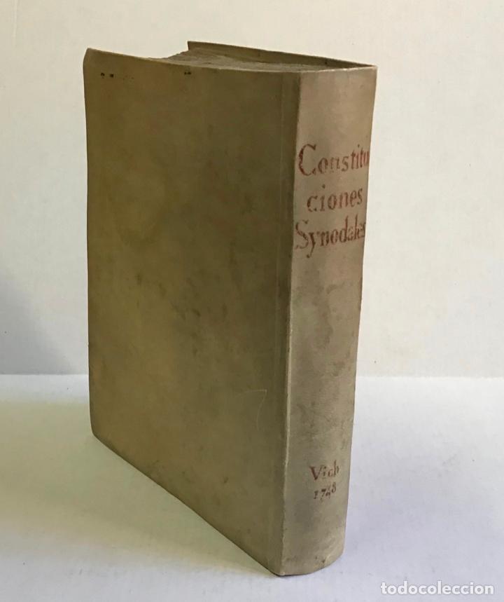 CONSTITUTIONES SYNODALES DIOEC. VICEN. IN UNUM COLLECTAE RENOVATAE & AUCTAE. - MUÑOZ, EMMANUELE A. (Libros Antiguos, Raros y Curiosos - Religión)