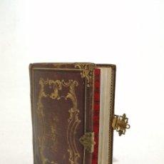 Libros antiguos: EXTRAORDINARIO LIBRO NOVISIMO DEVOCIONARIO, (AGUSTIN PRINCIPE 1844), CUERO REPUJADO ORO, 200 ILUSTRA. Lote 226622287