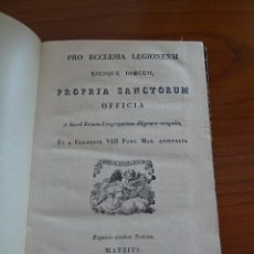 Libros antiguos: AÑO 1880. SANTORAL DE LA DIOCESIS DE LEON, SANTOS.PRO ECCLESIA LEGIONENSI. PROPIA SANCTORUM OFFICIA.. Lote 226942166