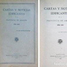 Libros antiguos: CARTAS Y NOTICIAS EDIFICANTES DE LA PROVINCIA DE ARAGÓN DE LA CIA DE JESÚS... AÑOS 1920 Y 1921.. Lote 227058260
