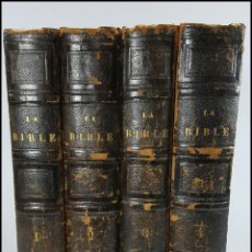 Livros antigos: AÑO 1841: LA SANTA BIBLIA. 4 ELEGANTES TOMOS ILUSTRADOS DEL SIGLO XIX.. Lote 228517640