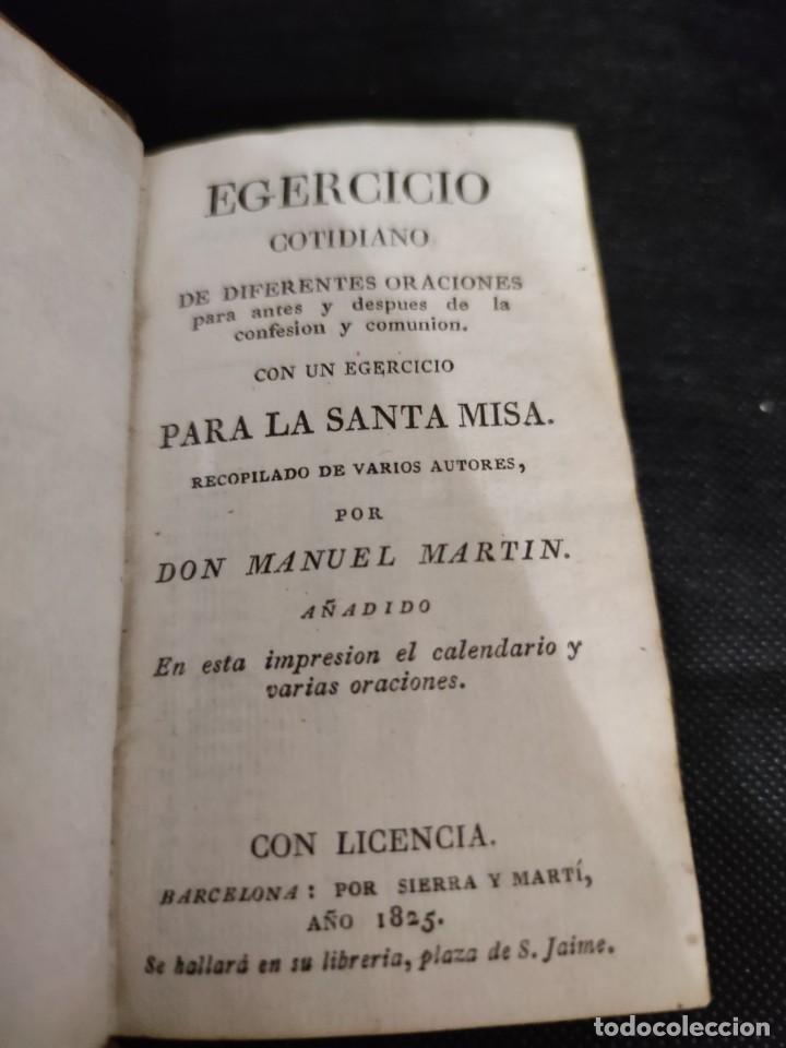 Libros antiguos: EJERCICIO COTIDIANO DE DIFERENTES ORACIONES-DON MANUEL MARTIN-1.825. - Foto 3 - 229260025