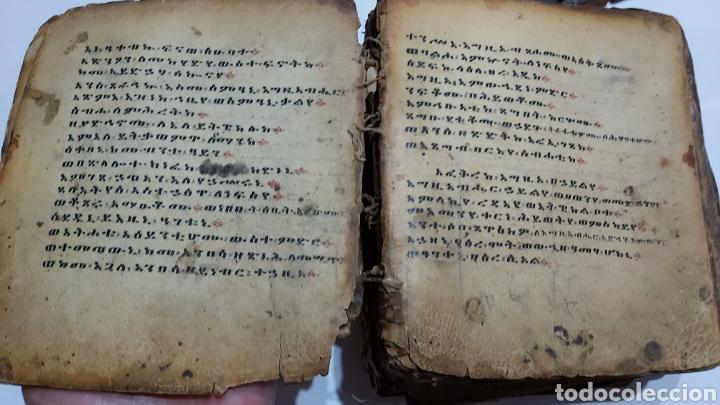 Libros antiguos: CODICE ETIOPE CRISTIANO COPTO S.XVII. MANUSCRITO BIBLIA ANTIGUA - Foto 2 - 230609675
