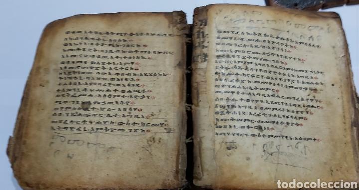 Libros antiguos: CODICE ETIOPE CRISTIANO COPTO S.XVII. MANUSCRITO BIBLIA ANTIGUA - Foto 4 - 230609675