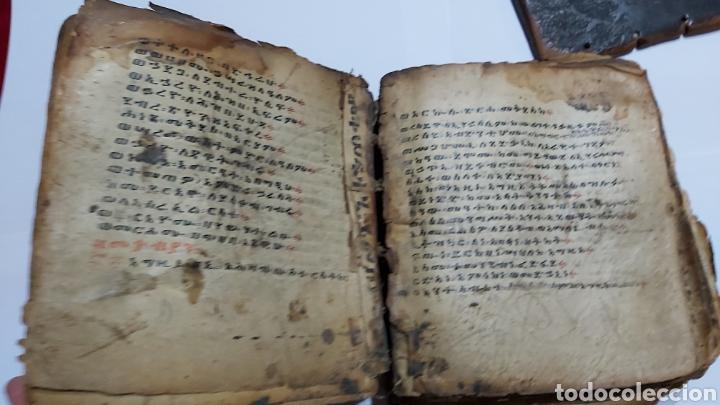 Libros antiguos: CODICE ETIOPE CRISTIANO COPTO S.XVII. MANUSCRITO BIBLIA ANTIGUA - Foto 5 - 230609675