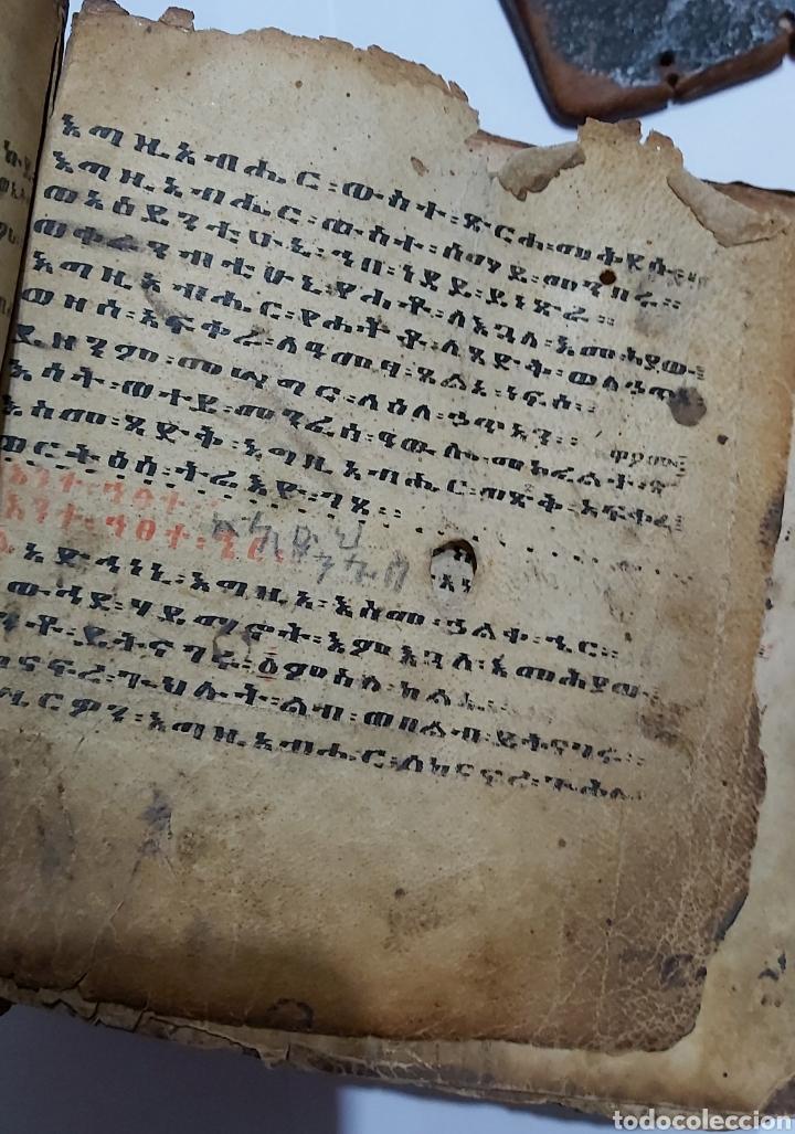 Libros antiguos: CODICE ETIOPE CRISTIANO COPTO S.XVII. MANUSCRITO BIBLIA ANTIGUA - Foto 6 - 230609675