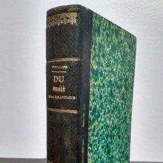 Libros antiguos: DU DROIT ECCLÉSIASTIQUE DANS SOURCES, DOCTEUR PHILLIPS. PARIS 1852. Lote 231131065