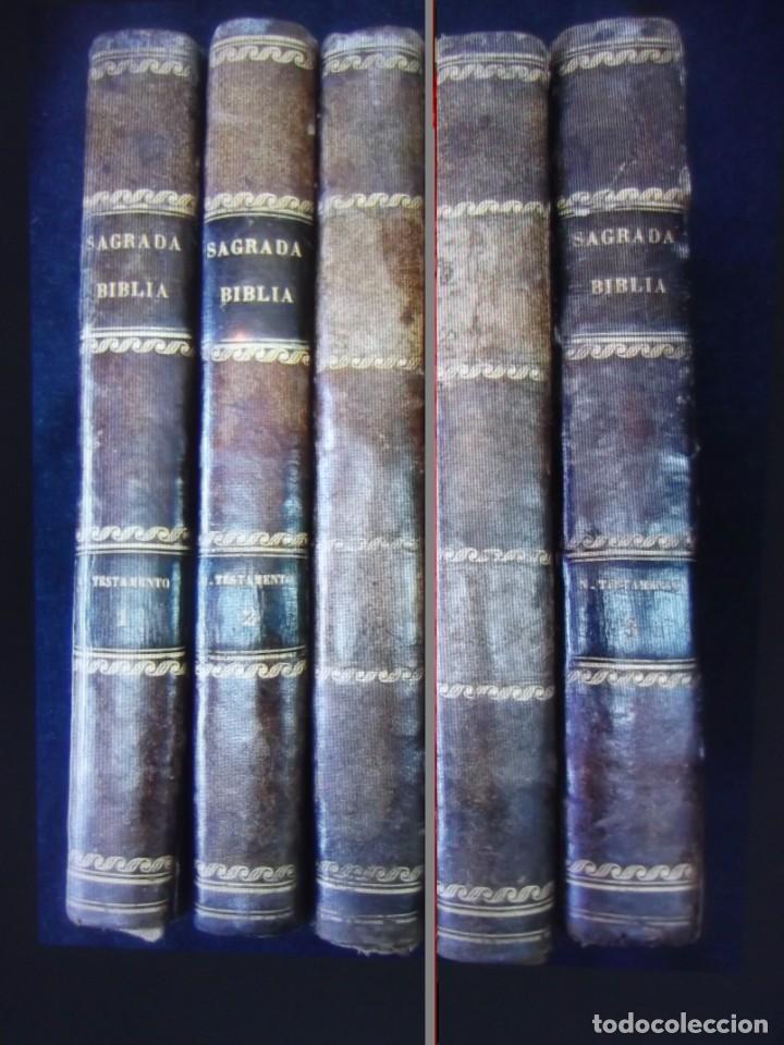 PHELIPE SCIO DE S.MIGUEL -LA SANTA BIBLIA 5 TOMOS . (DE LA VULGATA LATINA) (Libros Antiguos, Raros y Curiosos - Religión)